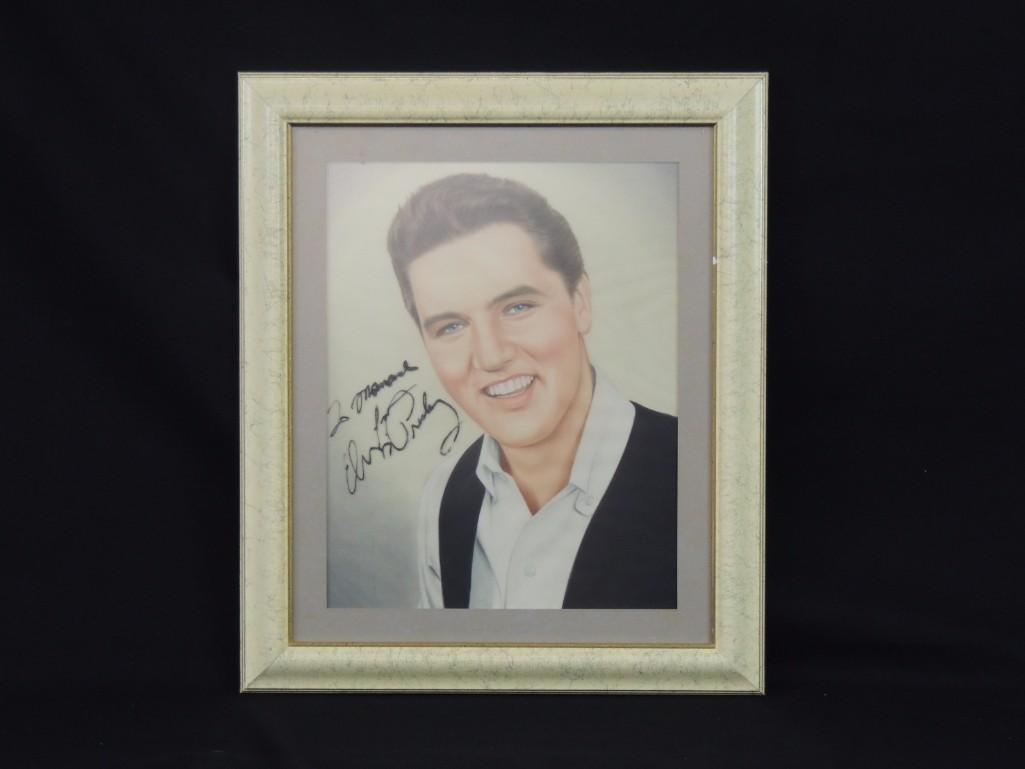 Elvis Presley Framed Signed Drawing