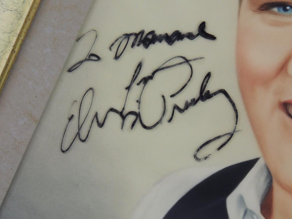 Elvis Presley Framed Signed Drawing - 2