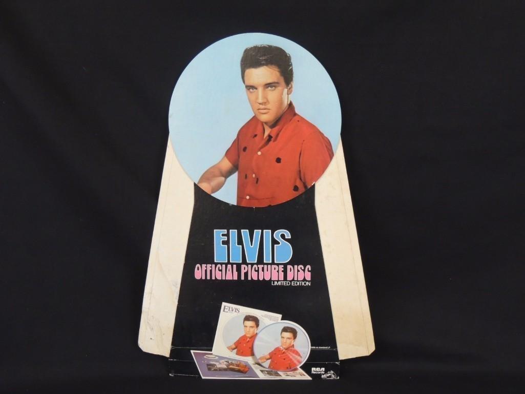 1978 Elvis Presley Cardboard Countertop Standee