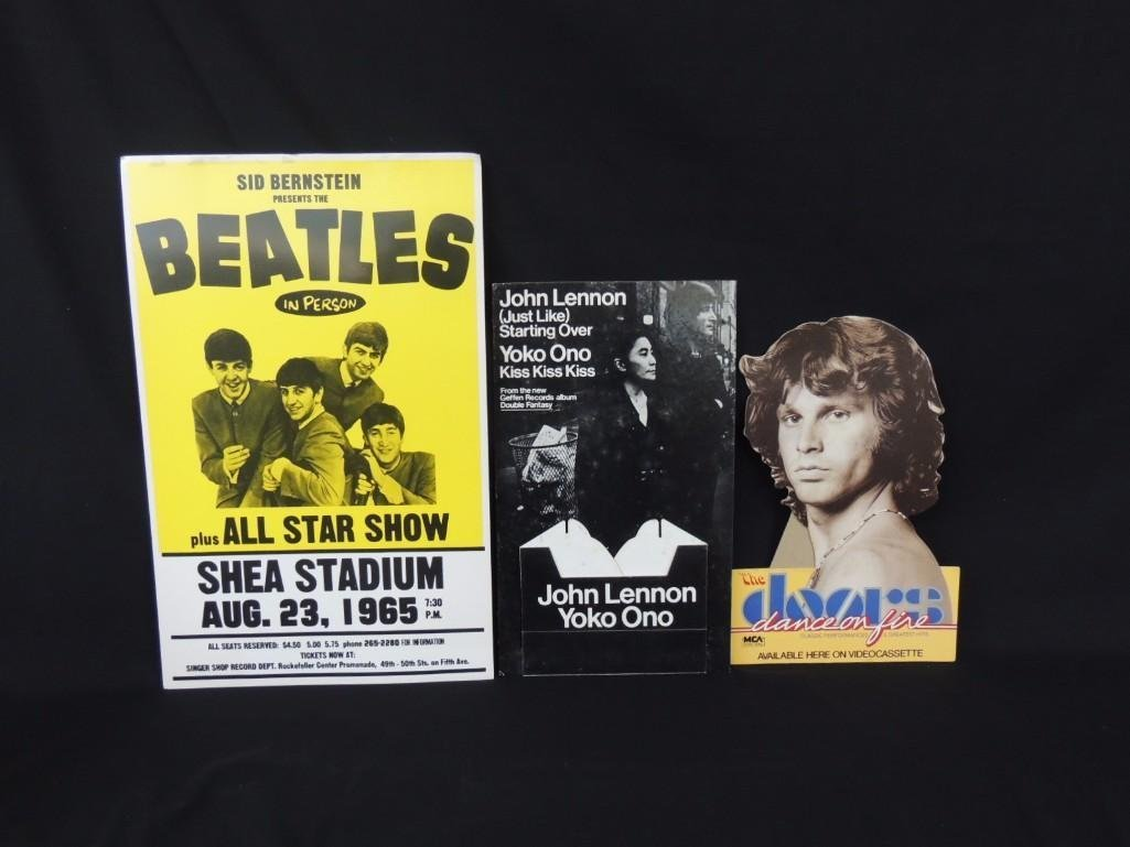 Beatles and Doors Poster and Standee Group of 3