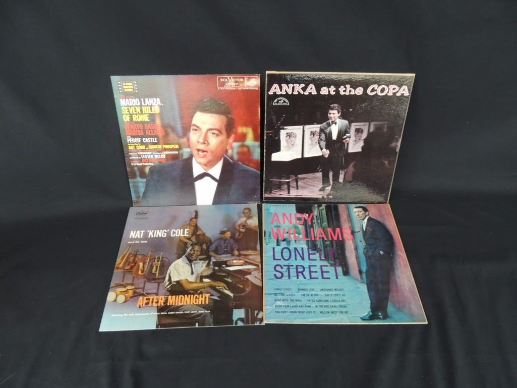 Group of 4 Cardboard Album Cover Countertop Standees