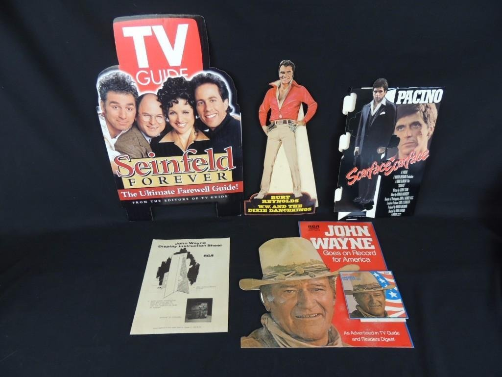 Group of 4 Cardboard Movie and Actor Countertop