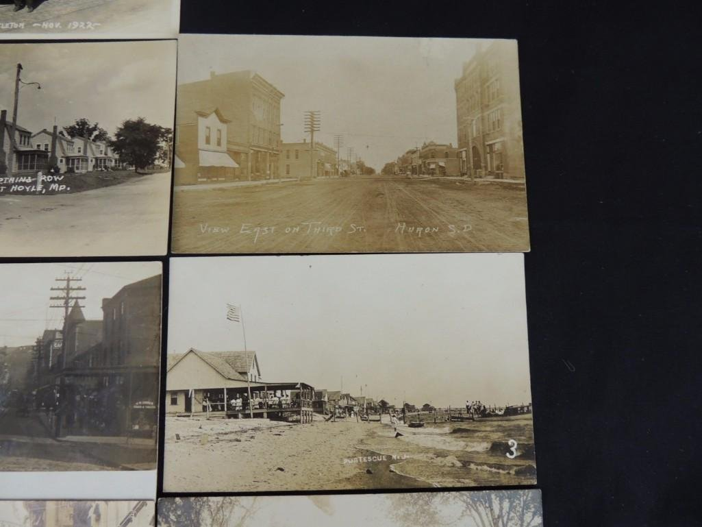 Group of 13 Street and Building Views Postcards - 3