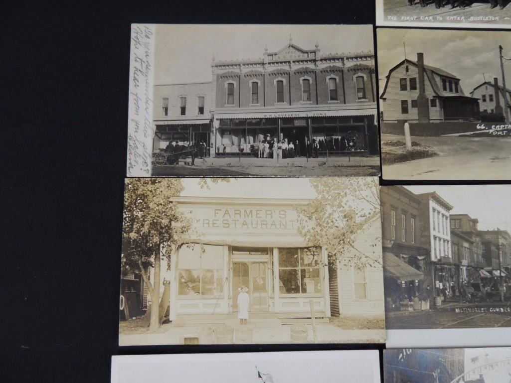 Group of 13 Street and Building Views Postcards - 5