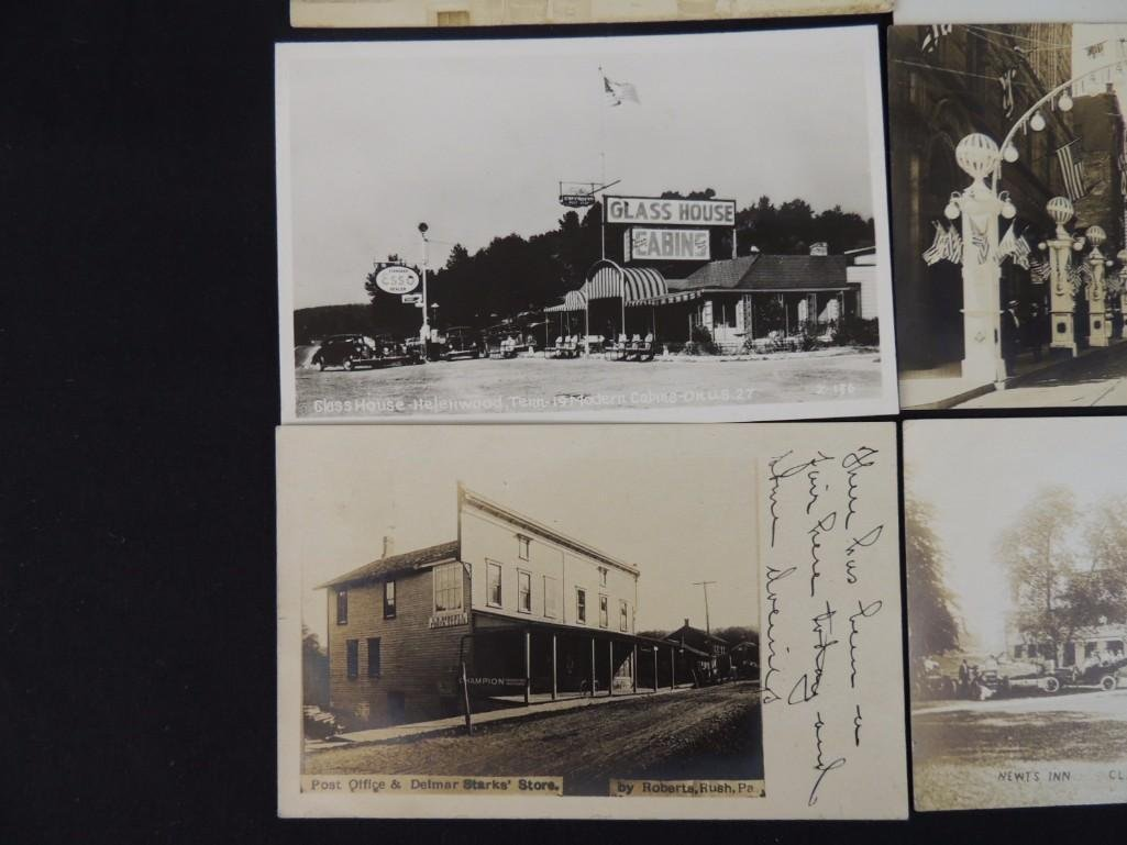 Group of 13 Street and Building Views Postcards - 6