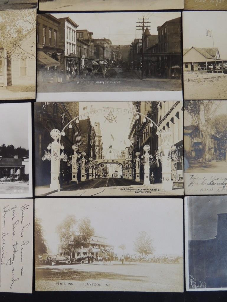 Group of 13 Street and Building Views Postcards - 7