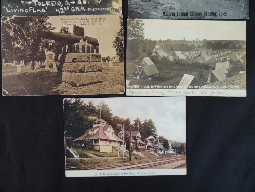 Group of 7 Military Fort Postcards and More - 2