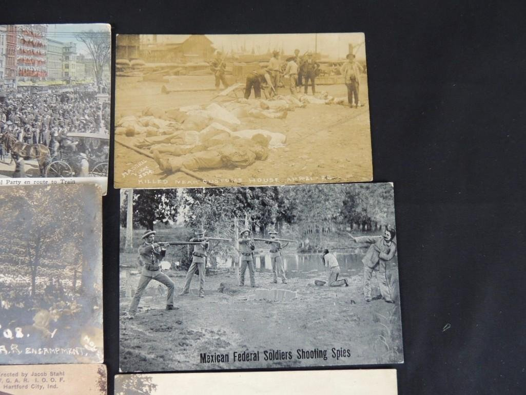 Group of 7 Military Fort Postcards and More - 3
