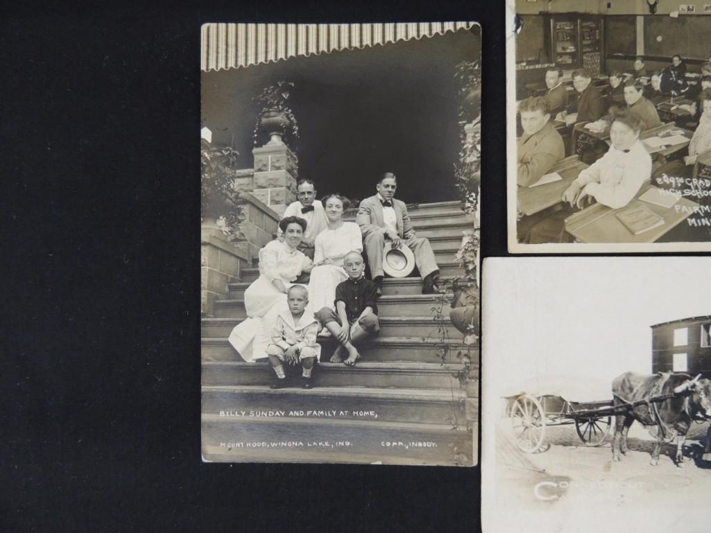 Group of 6 Real Photo Postcards of Ships, Baseball - 4
