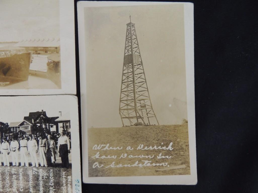 Group of 6 Real Photo Postcards of Ships, Baseball - 5