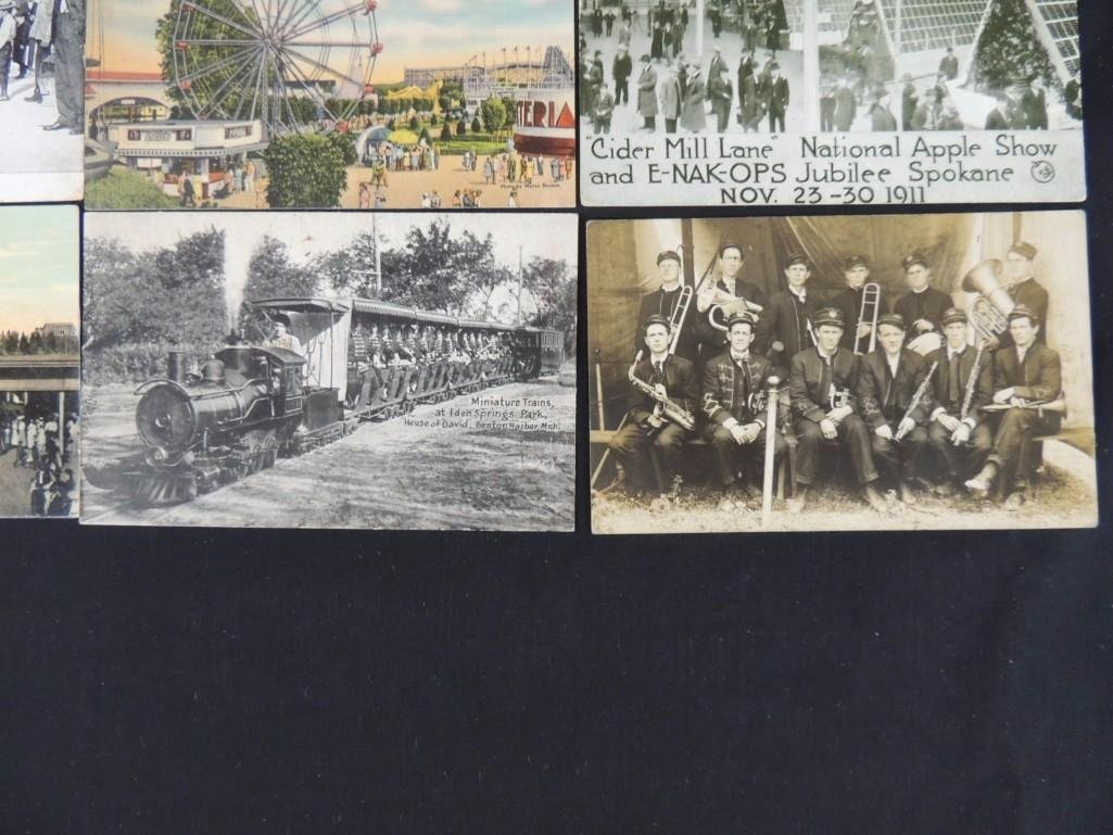 Group of 10 Postcards Featuring Miniature Trains, - 3