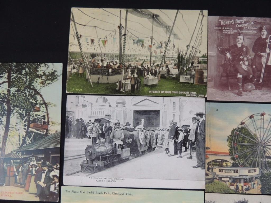 Group of 10 Postcards Featuring Miniature Trains, - 5