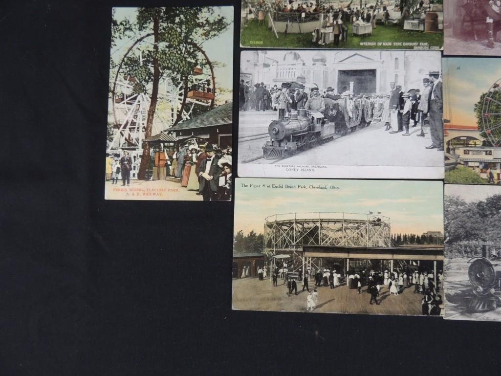Group of 10 Postcards Featuring Miniature Trains, - 6