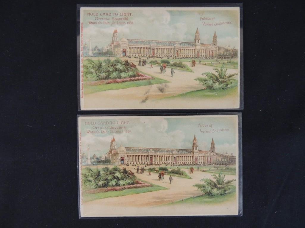 Group of 2 1904 St. Louis Worlds Fair Souvenir