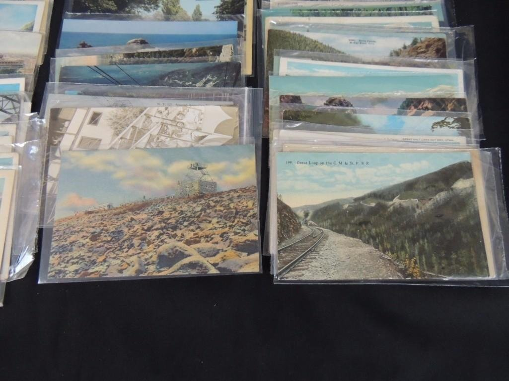 Approximately 100 Railroad Postcards Featuring C.M. & - 2