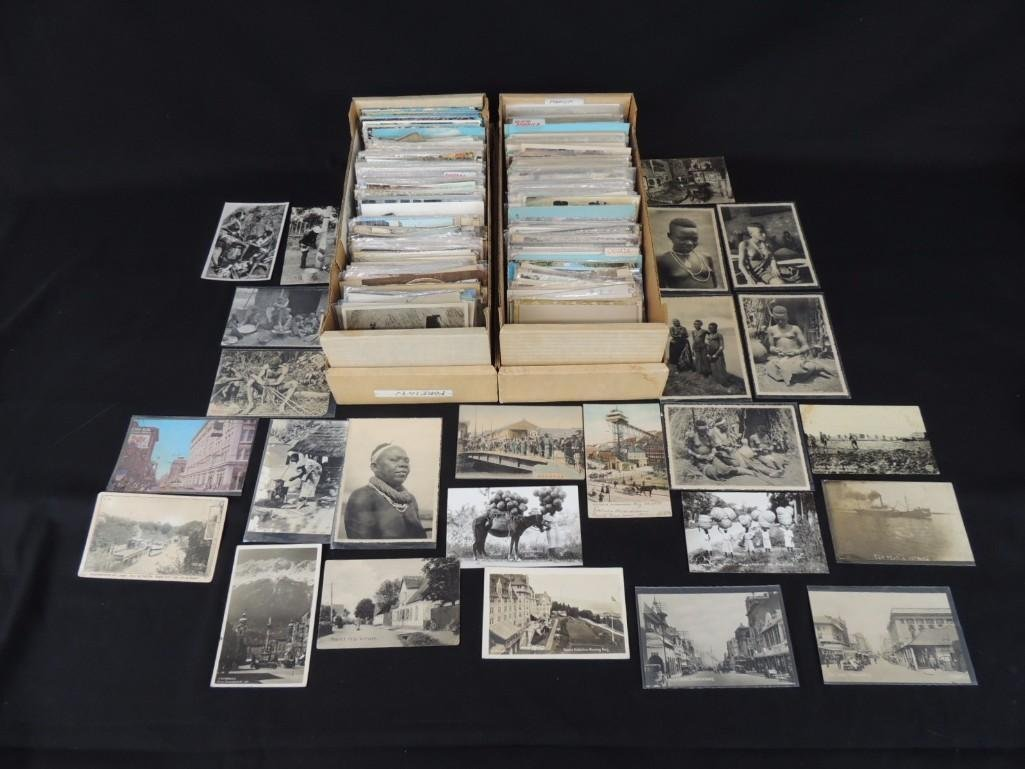 Approximately 900 Plus Foreign Postcards Featuring