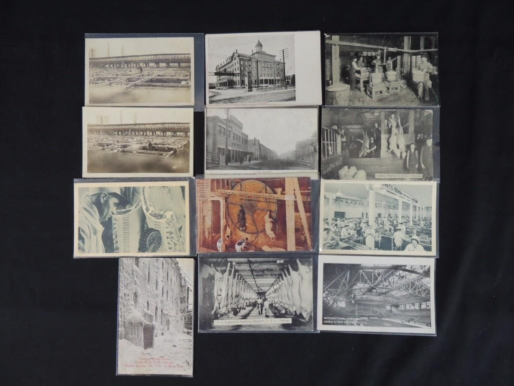 Group of 12 Postcards of Chicago's Union Stock Yards