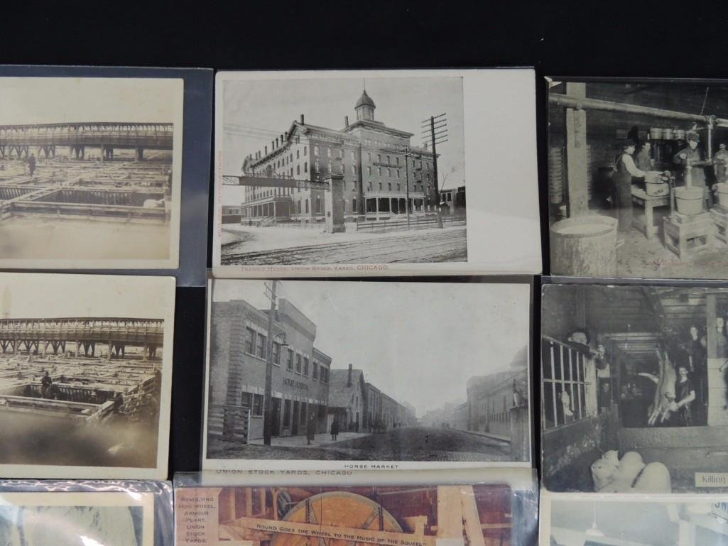 Group of 12 Postcards of Chicago's Union Stock Yards - 5