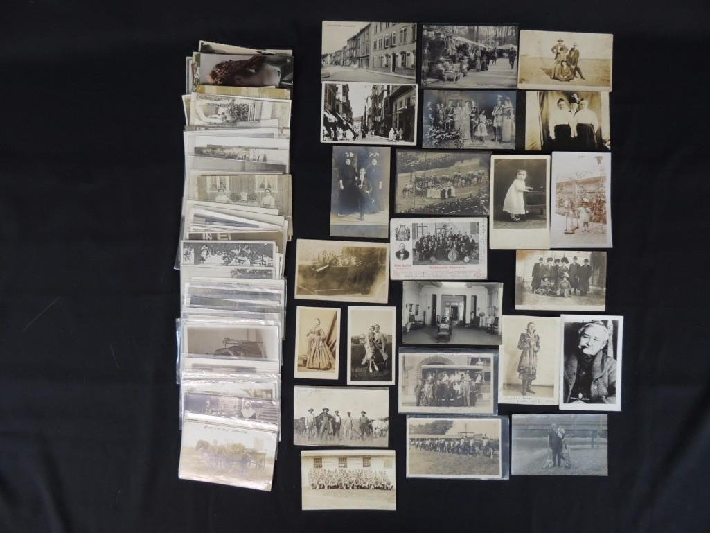Approximately 100 Plus Mostly Real Photo Postcards of
