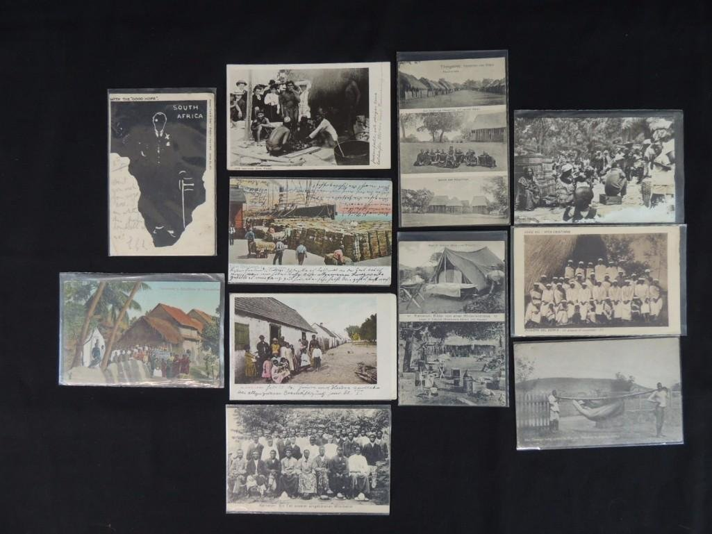 Group of 11 African and Tribal Postcards