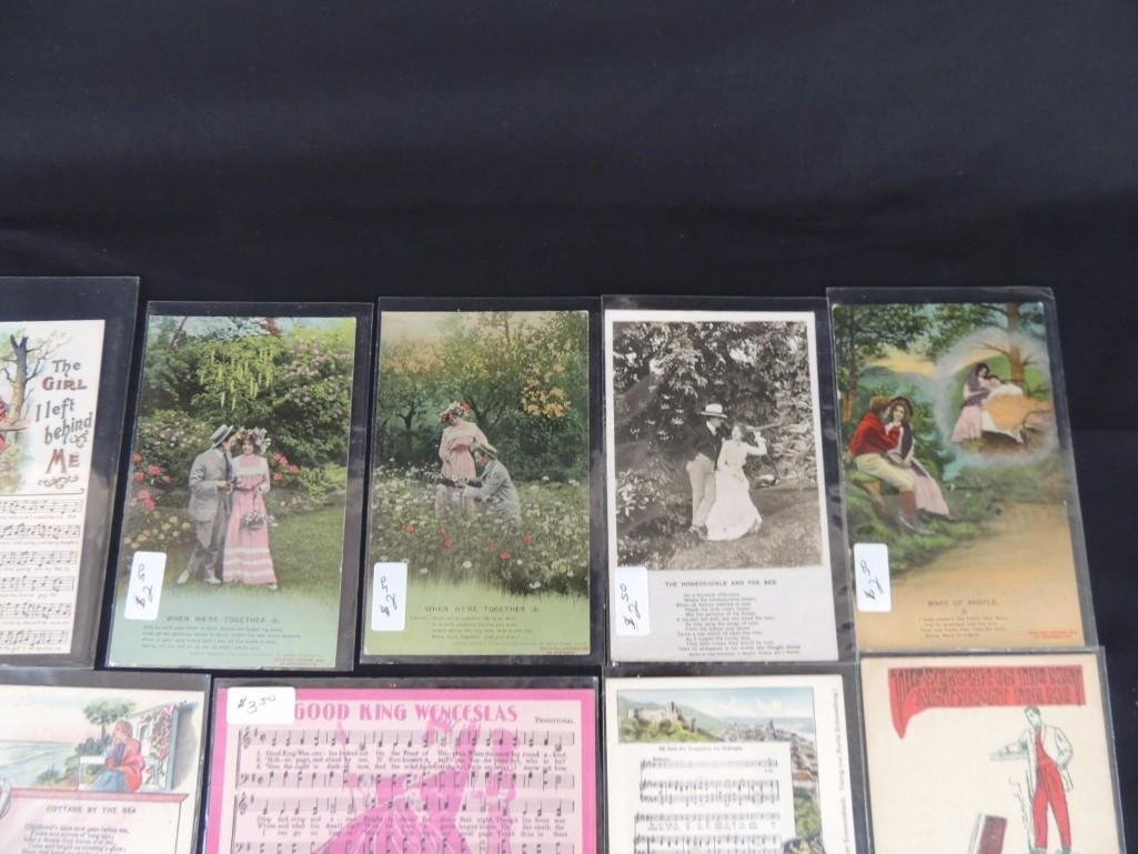 Group of 30 Song Postcards - 2