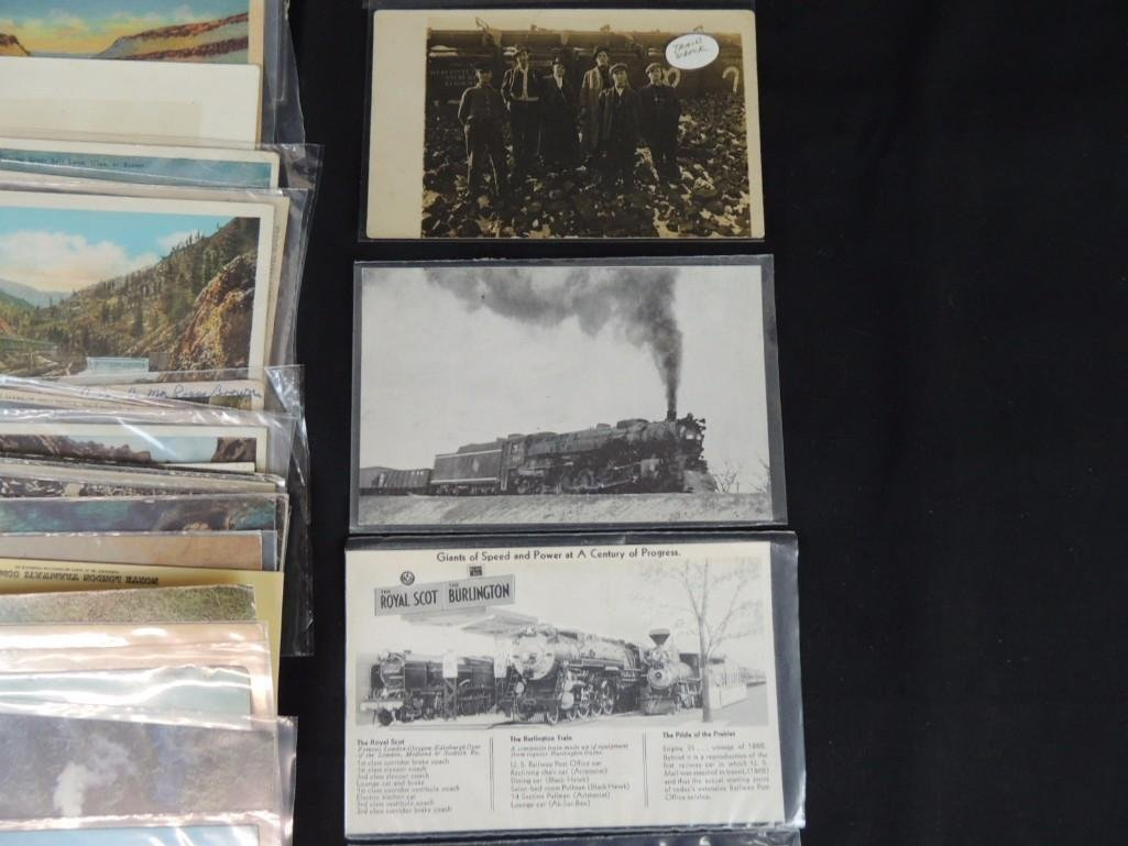 Approximately 100 Postcards Featuring Trains - 3
