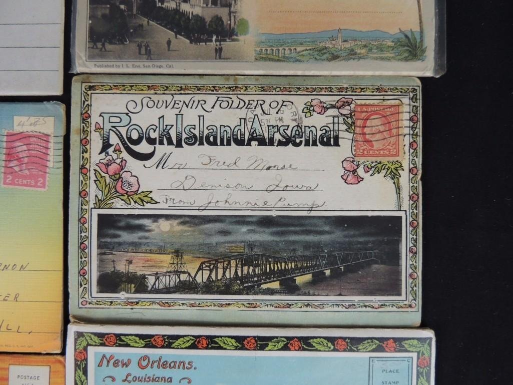 Group of 30 1930's and 40's Souvenir Postcard Folders - 2