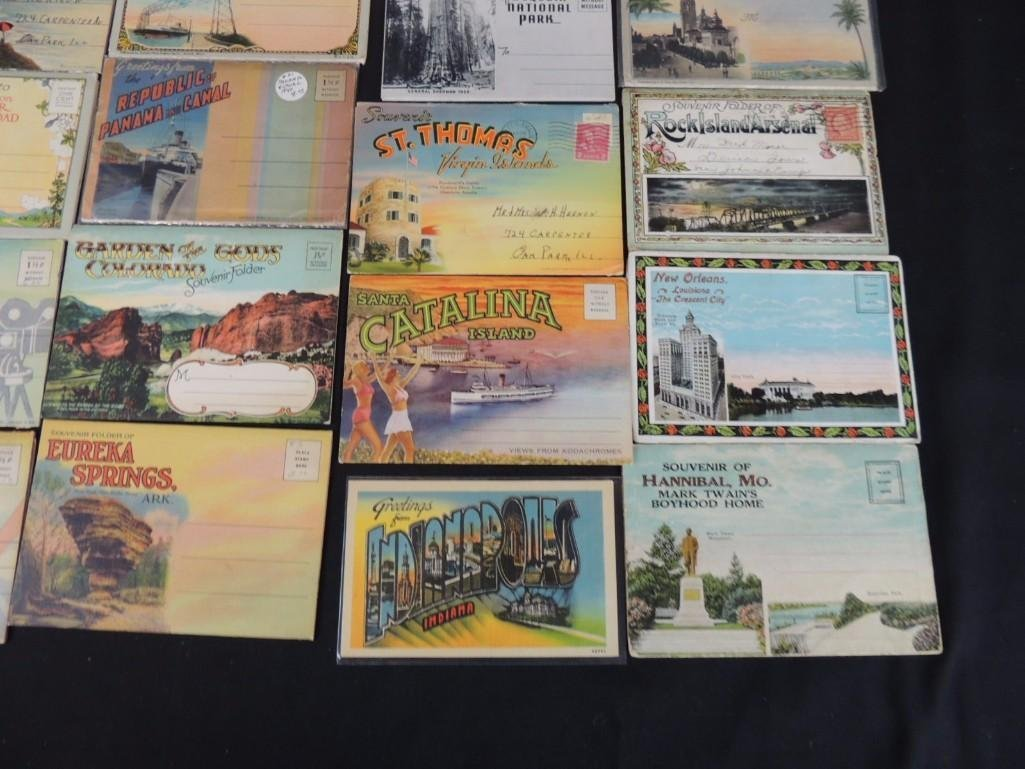 Group of 30 1930's and 40's Souvenir Postcard Folders - 5