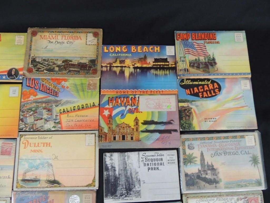 Group of 30 1930's and 40's Souvenir Postcard Folders - 6