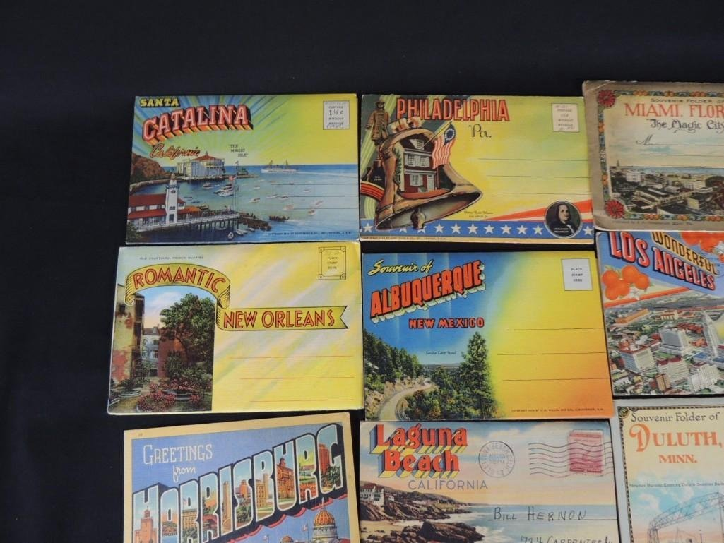Group of 30 1930's and 40's Souvenir Postcard Folders - 7