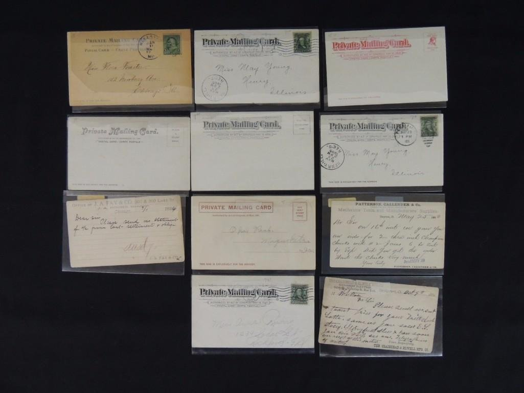 Group of 11 Private Mail Cards Featuring Parks, Houses, - 2