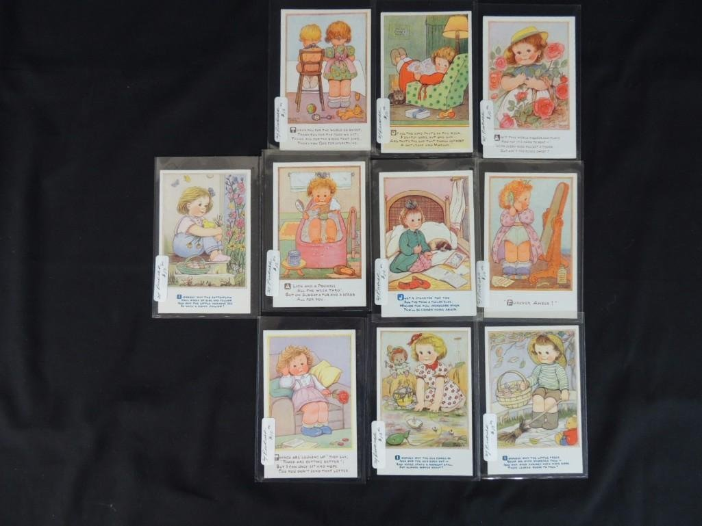 Group of 10 Phyllis M Purser Postcards Featuring