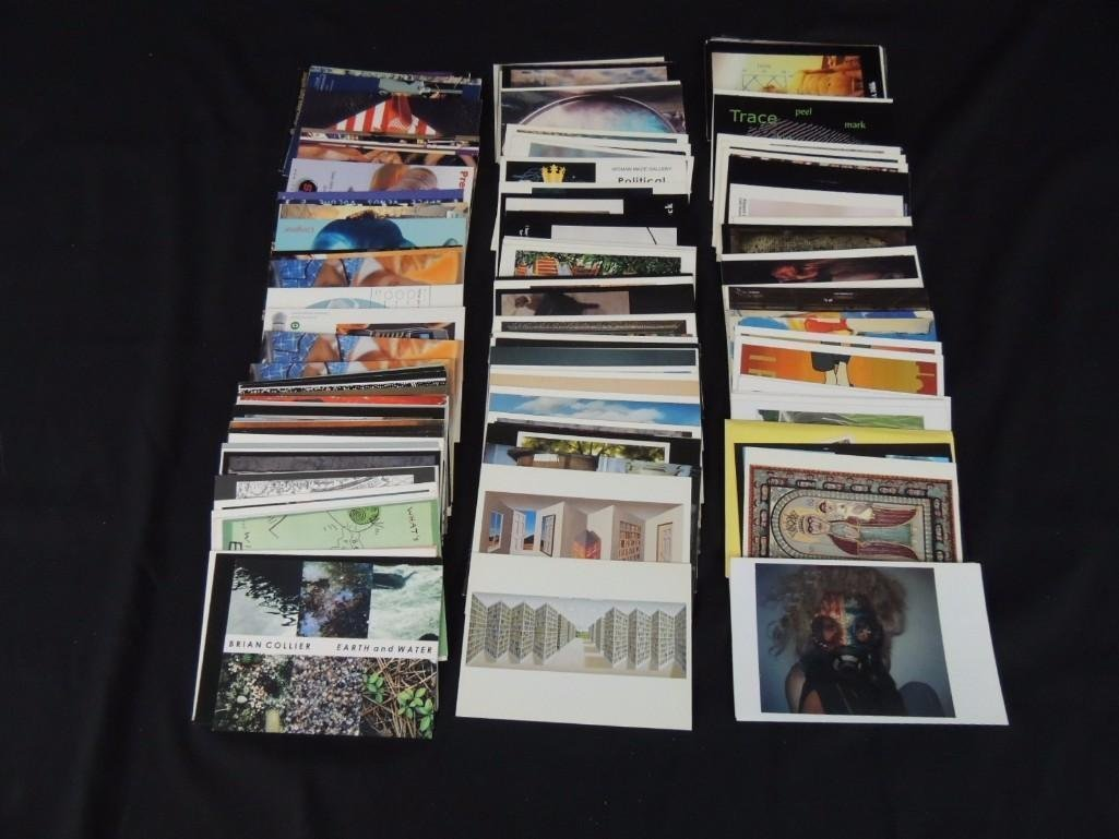 Group of 200 Plus Contemporary Art Postcards
