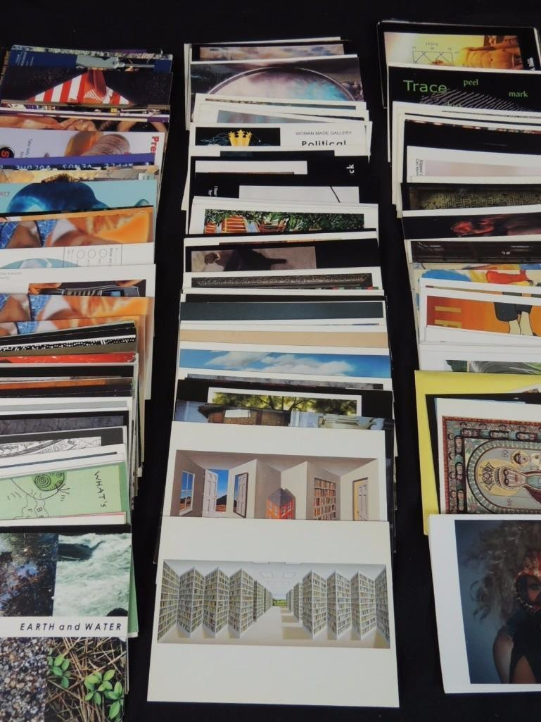 Group of 200 Plus Contemporary Art Postcards - 3