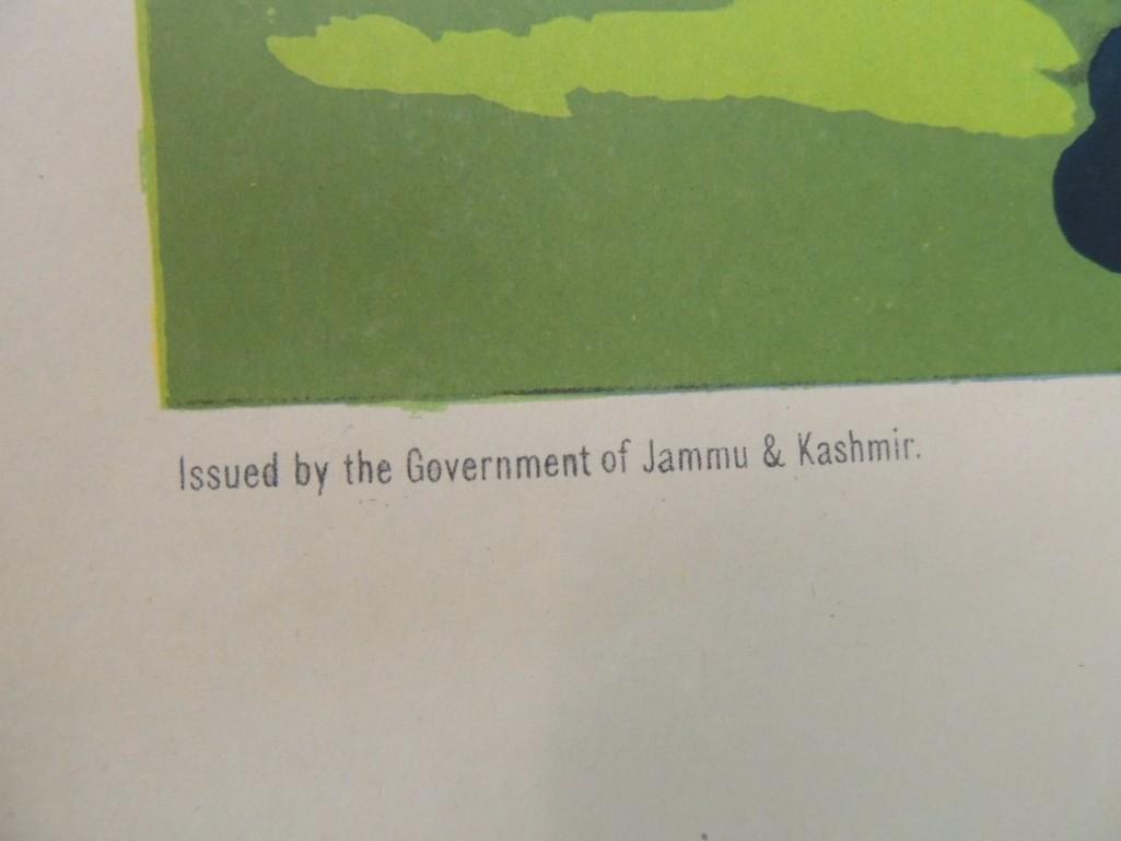 Vintage Visit Kashmir Vintage Travel Poster - - 2