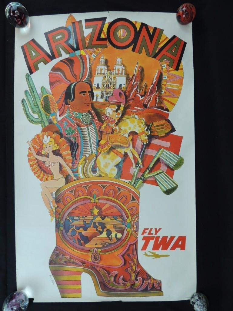 Vintage David Klein Fly TWA Arizona Vintage Travel