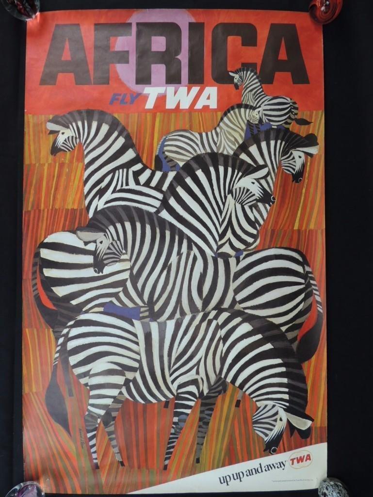 Vintage David Klein Fly TWA Africa Vintage Travel
