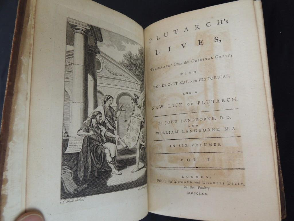 1770 Plutarch's Lives Translated From Original Greek 6 - 4