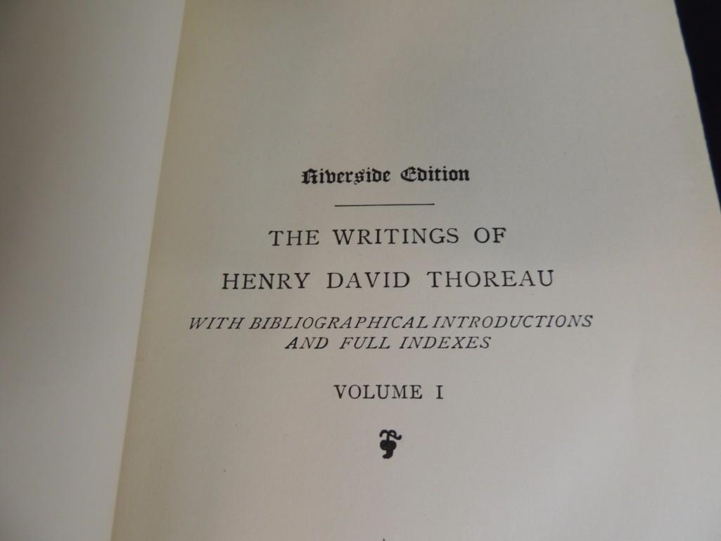 The Writings of Henry David Thoreau 11 Volume Set Book - 4