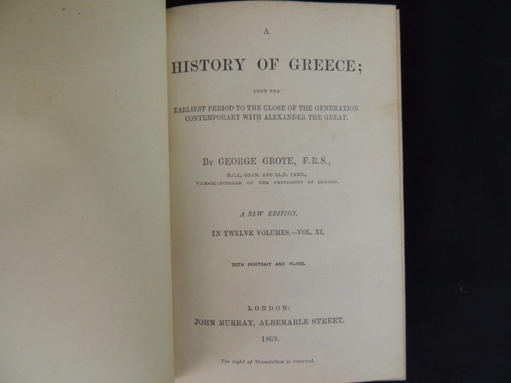 A History of Greece by George Grote 1869 Volumes IX and - 5