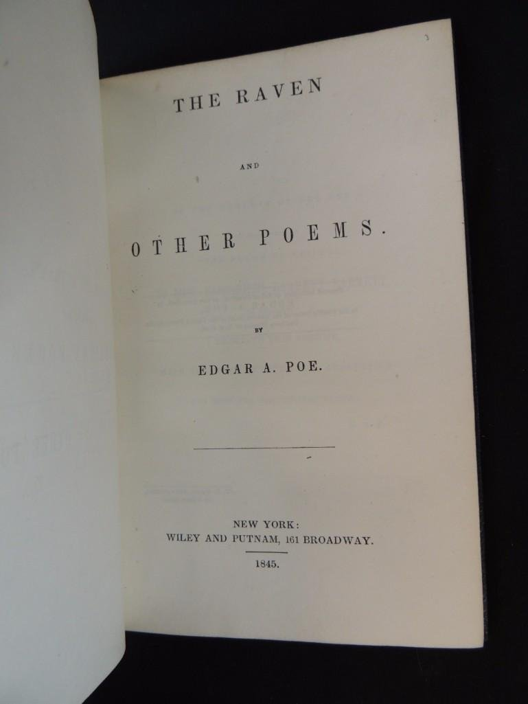 1845 First Edition of The Raven and Other Stories by - 4