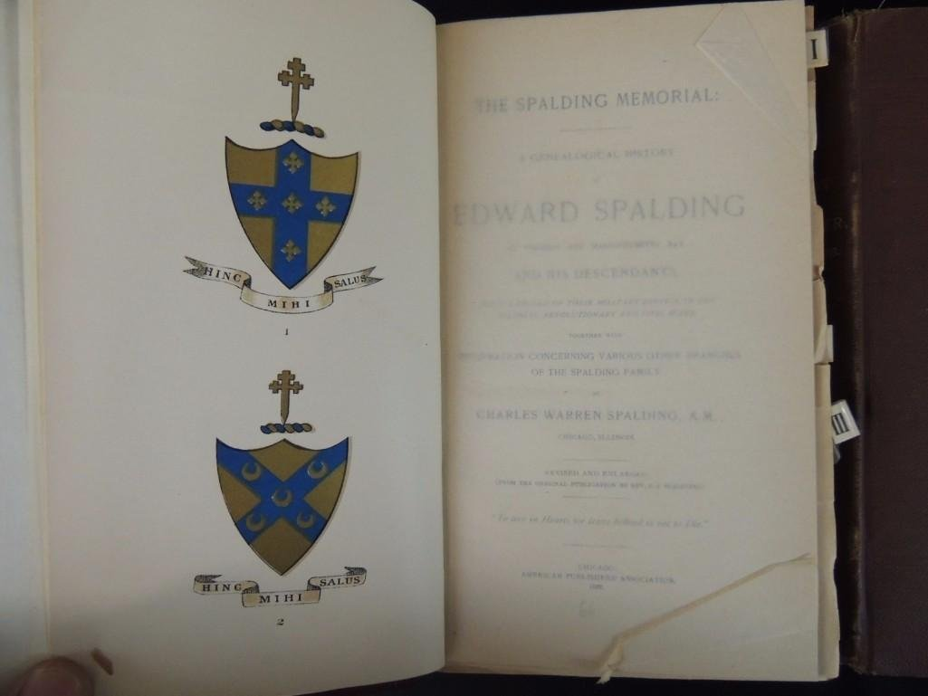 The Spalding Memorial: A Genealogical History of Edward - 3