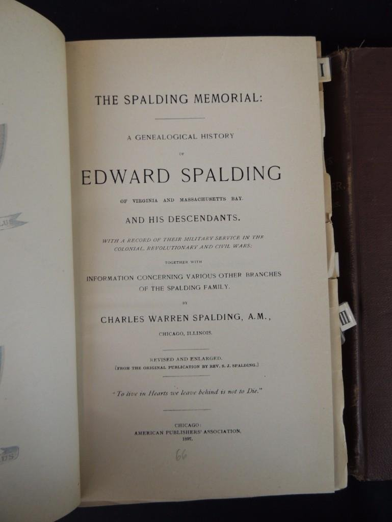 The Spalding Memorial: A Genealogical History of Edward - 4