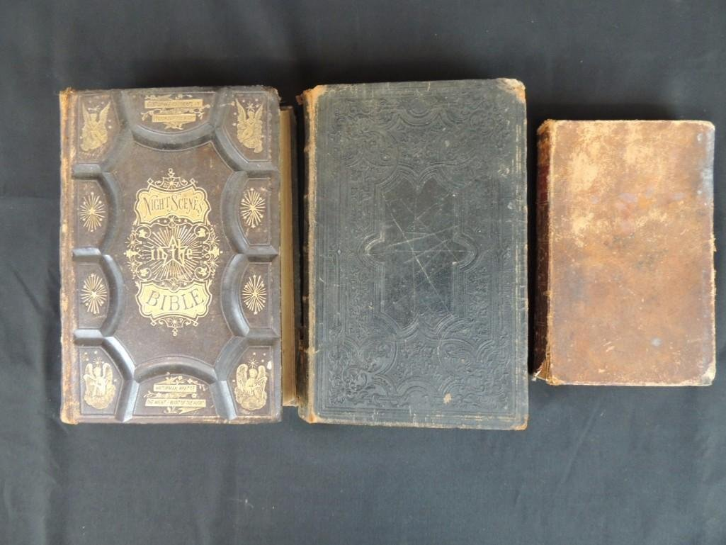 Group of 3 Religious Books Circa 1860's