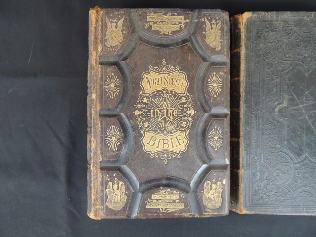Group of 3 Religious Books Circa 1860's - 2