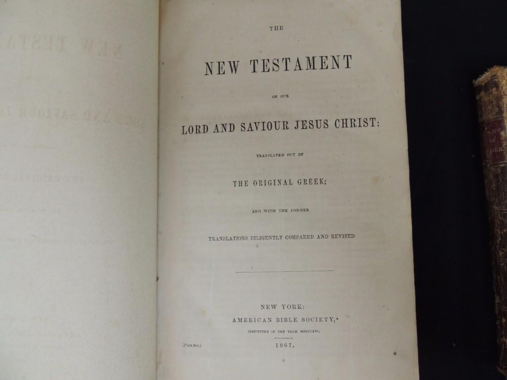 Group of 3 Religious Books Circa 1860's - 6
