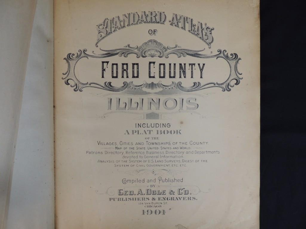 1901 Standard Atlas of Ford County Illinois - 2