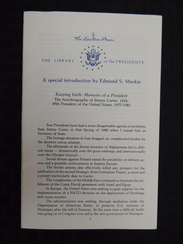 Keeping Faith Memoirs of a President Signed by Jimmy - 5
