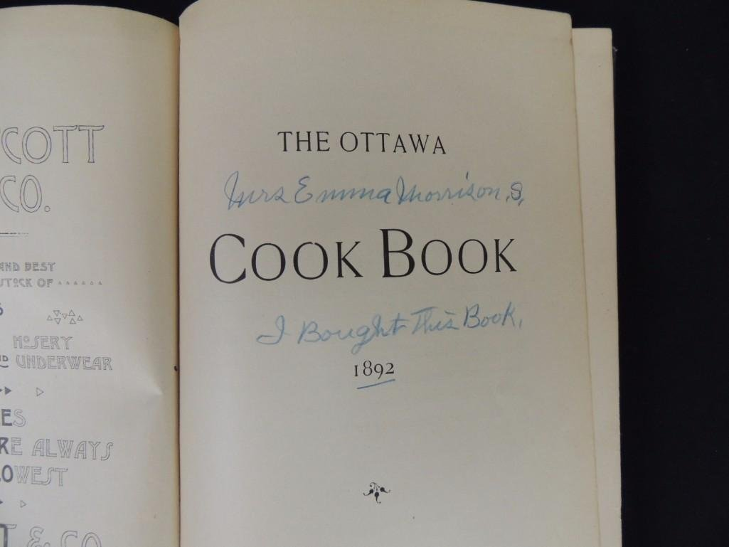 1892's The Ottawa Cook Book Press of WM. Osman & Sons - 5