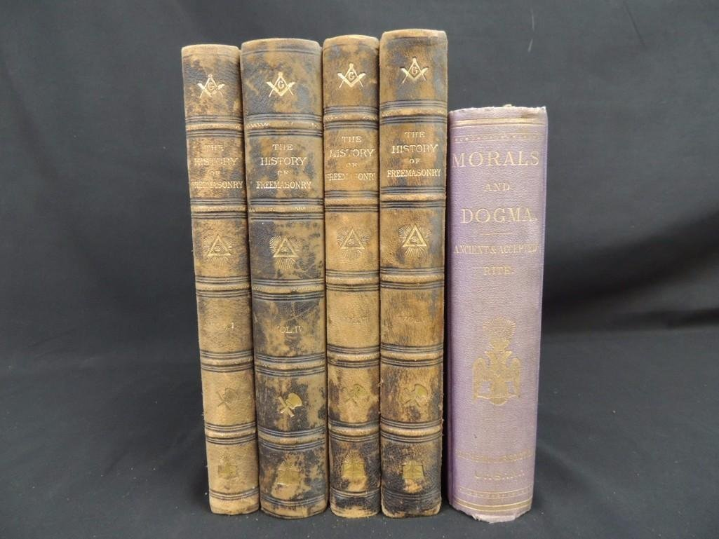 The History of Freemasonry 1889 Volumes 1-4 and Morals